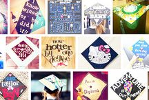 Graduation Cap Ideas / Go out with a bang!  These graduation cap ideas will set you apart from the crowd of others in your class and will go ten steps beyond!