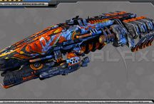 Rebel Galaxy Works / Just some of the many ships I created for Double Damage Games, that will appear in Rebel Galaxy, can't wait to fly them, on PS4, XBOX One, Mac, PC, Steam (Double Damage Games ©)