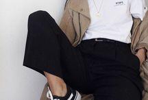 clothes / i love denim and black color
