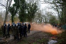 Fransa'da havaalanı yapımına karşı çıkan çevreciler polisle çatıştı