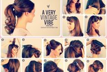 Look / Tutorial : Hair / bun: braid: ombre: tail: bob cut: knot: updo: wave: + care