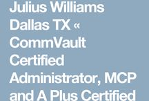 Julius Williams Dallas TX / Julius Williams is a very professional and detailed oriented technical consultant. His technical skills are outstanding and he works extremely well with clients and fellow project team members.