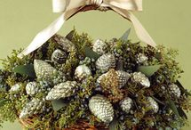 Christmas Pinecones and Evergreens / by Judy Marie