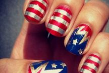 Designs for nails for the 4th of July / Nail designs for the 4th / by Wild And Free