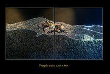 Purpel Rain / Diptyque 120 x 60 cm