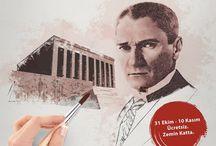"""Bir Tablo Bin Fırça / Nuit Reklam Ajansı olarak """"Bir Tablo Bin Fırça"""" projemizi büyük bir heyecanla ve """"Atatürk'ün anısına bin fırçadan biri sizin olsun."""" sloganıyla  Maltepe Park AVM 'de hayata geçirdik."""