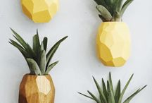 Funky Decor - Pineapple and Flamingo