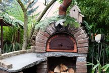 cob oven creating.