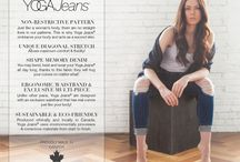 Yoga Jeans / Women's luxury eco friendly jeans. Proudly Made In Canada