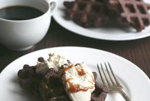 Brownie Waffeln low carb