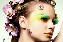 Makeup z kwiatami