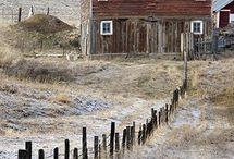 Barns, sheds, abandoned buildings