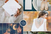 Midnight Skies / navy color-themed weddings