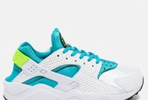 Nike WMNS Air Huarache Run 634835-109 Running White Blue-Green 6.5 7.5 8 9.5 us
