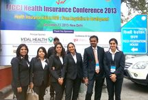INLEADers at the Health Insurance Conference 2013 — at FICCI. / Students pursuing 'Healthcare Administration' at INLEAD attended the seminar.