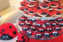 Ladybug / Ladybird birthday party ideas / Food, cake, biscuit, cupcake, decoration, ideas for birthday party, kids or aduls