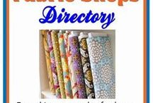 shops for fabrics, notions, sewing supplies
