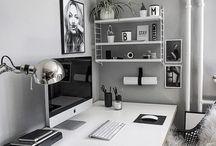 otthoni iroda ötletek / iroda ötletek lakásban, otthoni munkára, bloggolásra