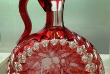 Cranberry Glass / A collection of the different look of the red colored glassware known as Cranberry Glass.
