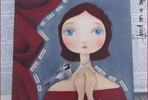 My mixed media paintings