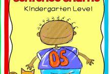 Kindergarten Reading / Fun reading worksheets for preschool and kindergarten kids! These worksheets help children associate objects with words.