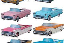 grease/carddboard cars