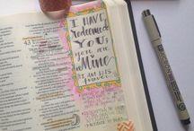 Art Journaling> in your Bible!