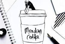 MONDAY COFFEE / By Megan Hess