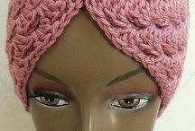 crochet hat, tulban & headband