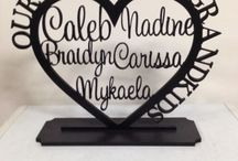 Personalised family tree's / Family Tree Can fit up to 12 names Can be painted any colour of your choice 50cm x 50cm  $80 (wall hanging) $100 (with stand) Pick up is Revesby Or postage is $15.90   I also offer layby as a payment plan  https://www.facebook.com/PersonalisedNames