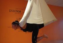 Aeroyoga, aerial yoga..