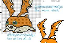 Schemi punto croce Digimon / Schemi punto croce Digimon