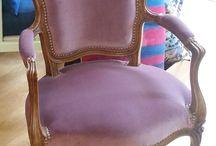 fauteuils / fauteuils restaurés à l'atelier pour des clients ou pour la vente...