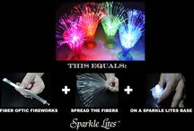 This + This = Sparkle Lites How To / Simple photo boards showing how easy it is to create some magic with Sparkle Lites products.