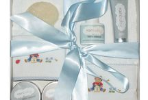 Gifts for Baby / Charming gift boxes filled with natural baby lotions and creams along with selected hand-embroidered, all-cotton baby items from Gordonsbury. Great gifts at great prices.