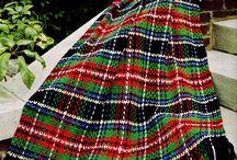 Easy to crochet tartan rugs