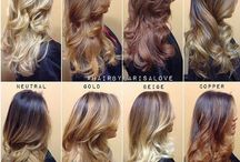 Hair colour / Different shades of ombré