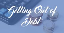 Getting Out of Debt / Tips for saving money and getting out of debt. Debt free, money saving, how to pay down debt, payoff debt, debt elimination, debt management, debt tracker