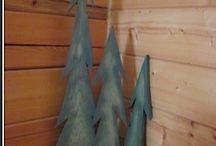 деревянные елки