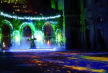 """Lost Paradise by J.C.D.B & Blachere Illumination / A l'occasion de la fête des lumières 2013 à Lyon, nous avons eu l'honneur de collaborer avec Jean Jean-Charles de Castelbajac, créateur emblématique de notre époque, pour mettre en scène et illuminer la place de l'hôtel de ville, dans un projet nommé """"Lost Paradise""""."""