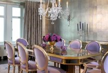 dining rooms with colour pattern or paint