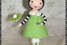 painted pin dolls