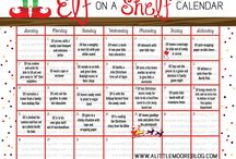 ELF ON THE SHELF IDEAS / Calendar for ideas to do with your ELF ON A SHELF