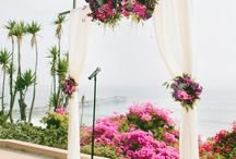 Wedding Ceremony Flowers / Ceremony flowers by Florals by Jenny and designs I admire by others.
