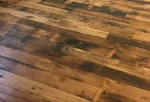 French Railway Oak Flooring / Here are some pics from a client who used our reclaimed 1950's French Railway Oak for flooring throughout their home. We sanded these boards down using three different grits (40, 80, 120). We had to plug the remaining nail holes and then use bow ties to help strengthen the boards for wear and longevity. The client opted to finish the boards at home, using a clear hard wax oil. This helps bring out the different tones in the boards and add warmth to the rooms in which they are situated.