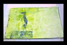 Gelli plate prints & monoprints
