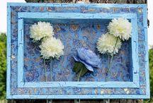 "COLOREL-Rahmen mit Blumenvasen ""Floral blau"""