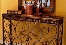 entryway table&door