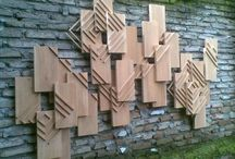 sculpture / wooden sculpture, wall sculpture, object
