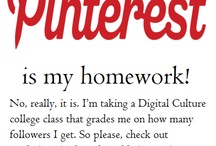 Pinterest Homework / I'm taking a college class about Digital Culture. We get graded on how many followers we can get on a social media site, so it would be super helpful if you checked out my boards and followed any of them that you like. Thanks everyone!